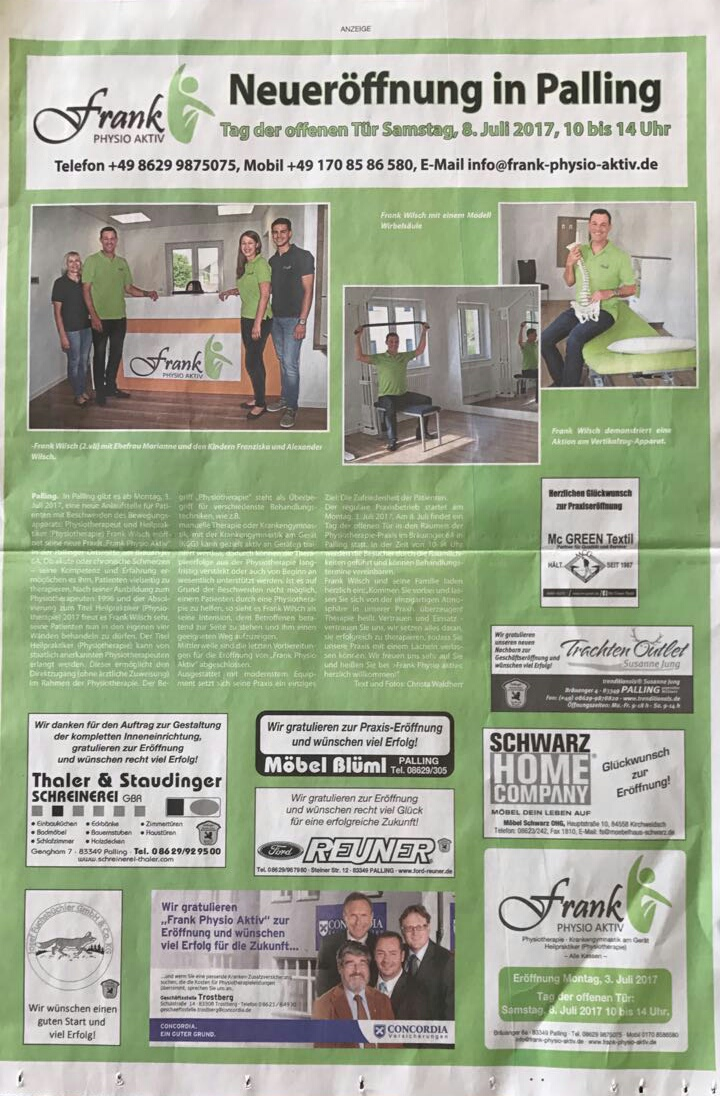 Anzeige Zeitung